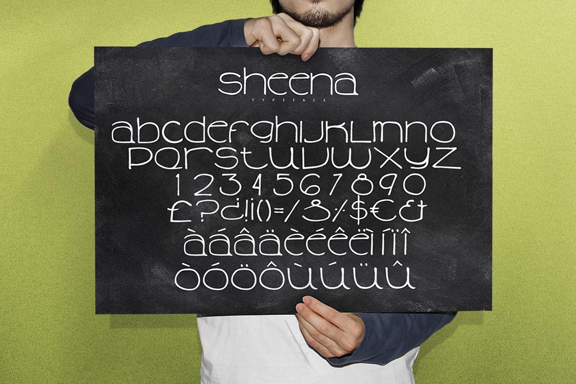 Sheena Typeface example image 3
