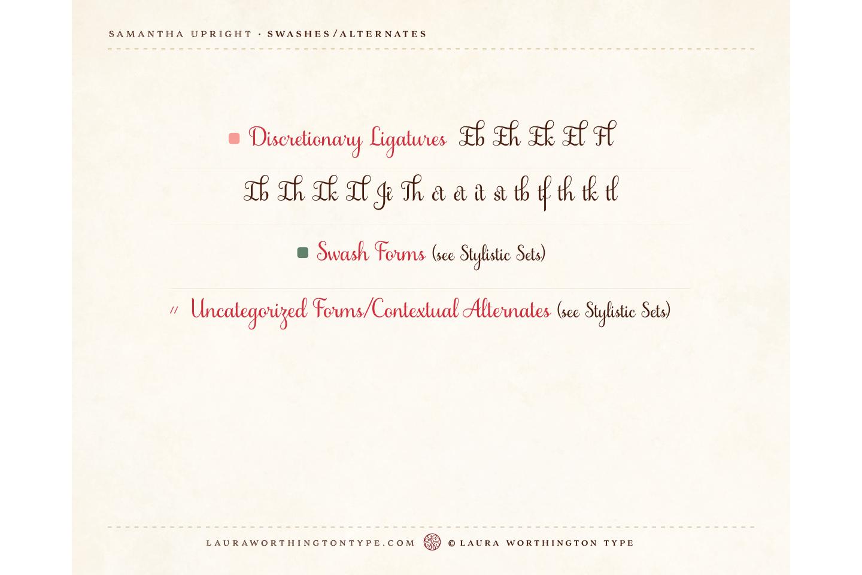 Samantha Script Upright Bold example image 9