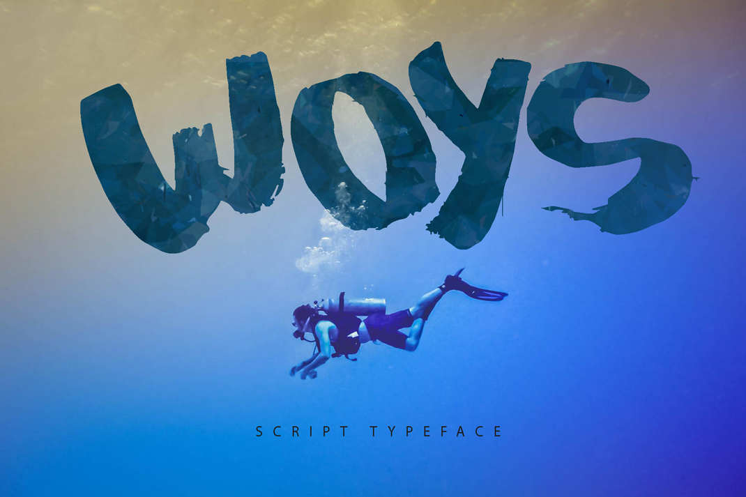 Woys Brush Typeface example image 4