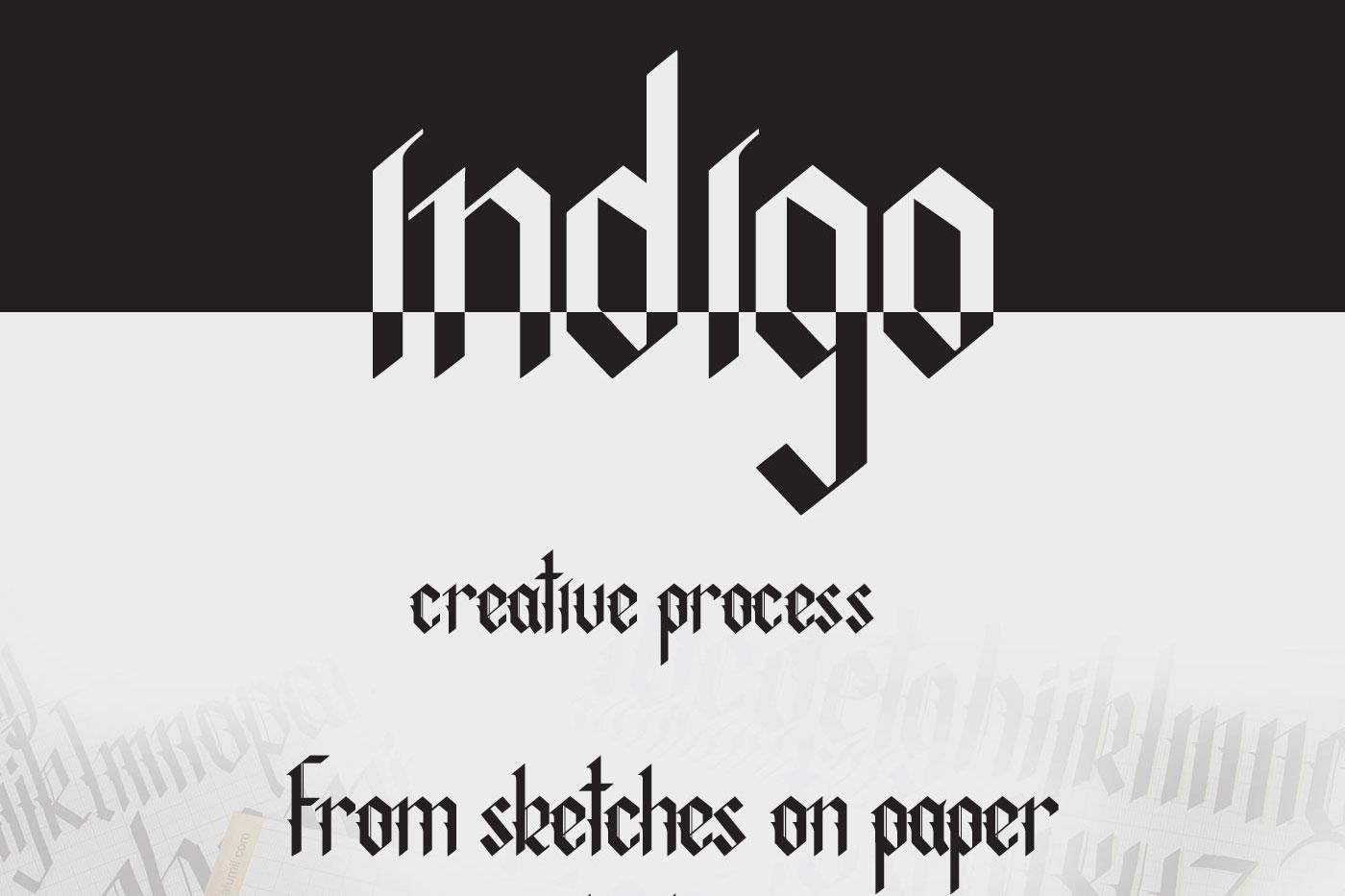 Indigo handcrafted typeface example image 6