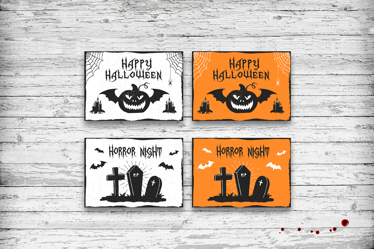 Halloween. 20 Greeting Cards example image 8
