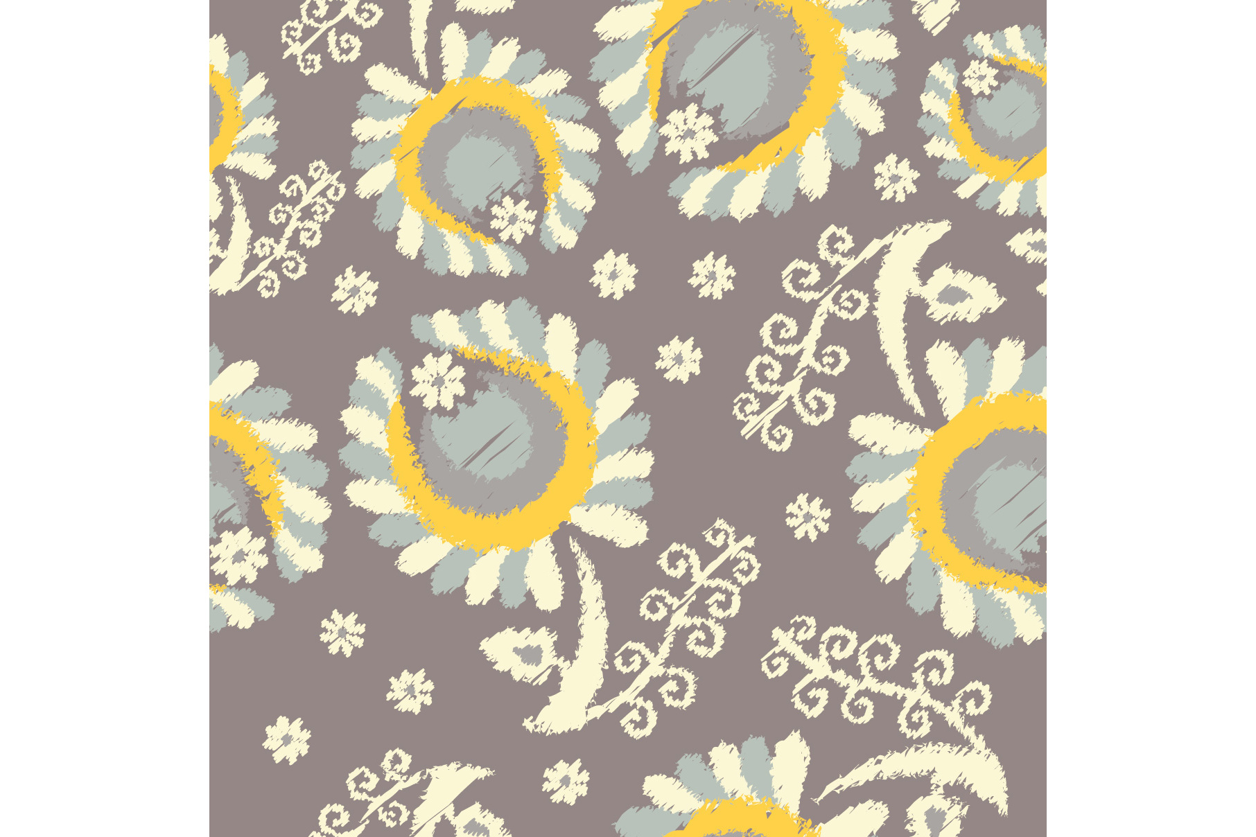 Set of 12 seamless pattern with decorative flowers.  example image 6