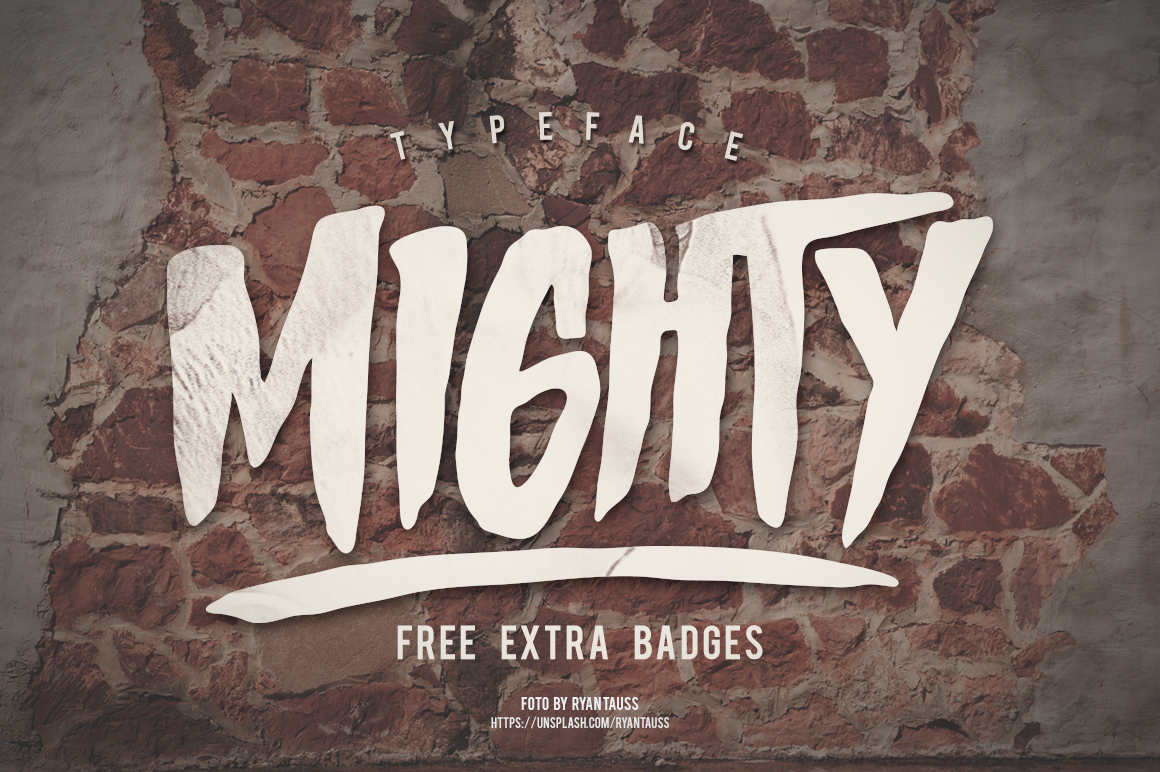 MIGHTY Typeface example image 1