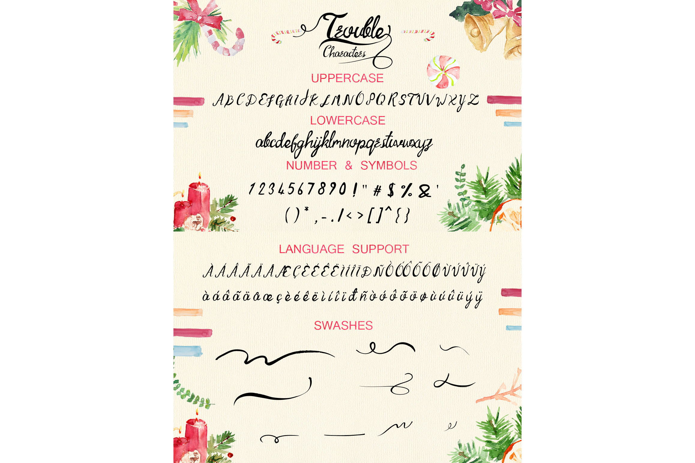 Trouble Script Font example image 6