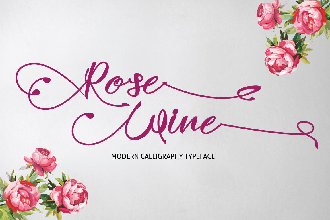 Rose Wine Typeface example image 1