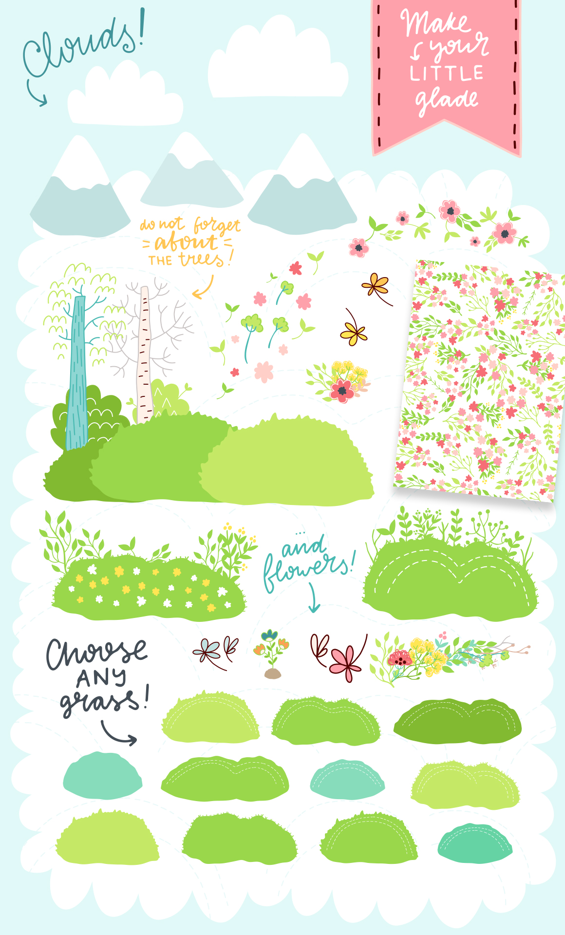 Spring is Here! Graphics & Patterns example image 15