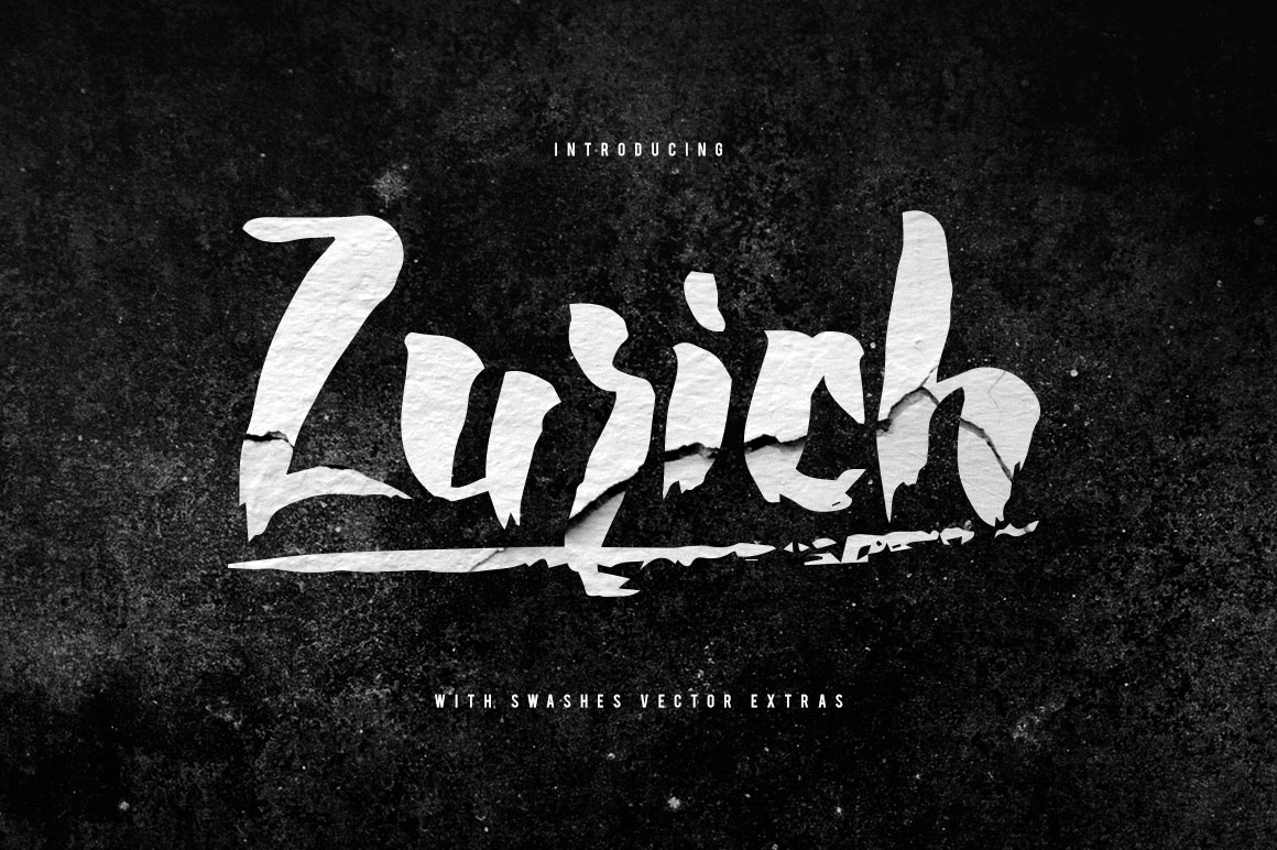 Zurich Brush Font + Swashes example image 1