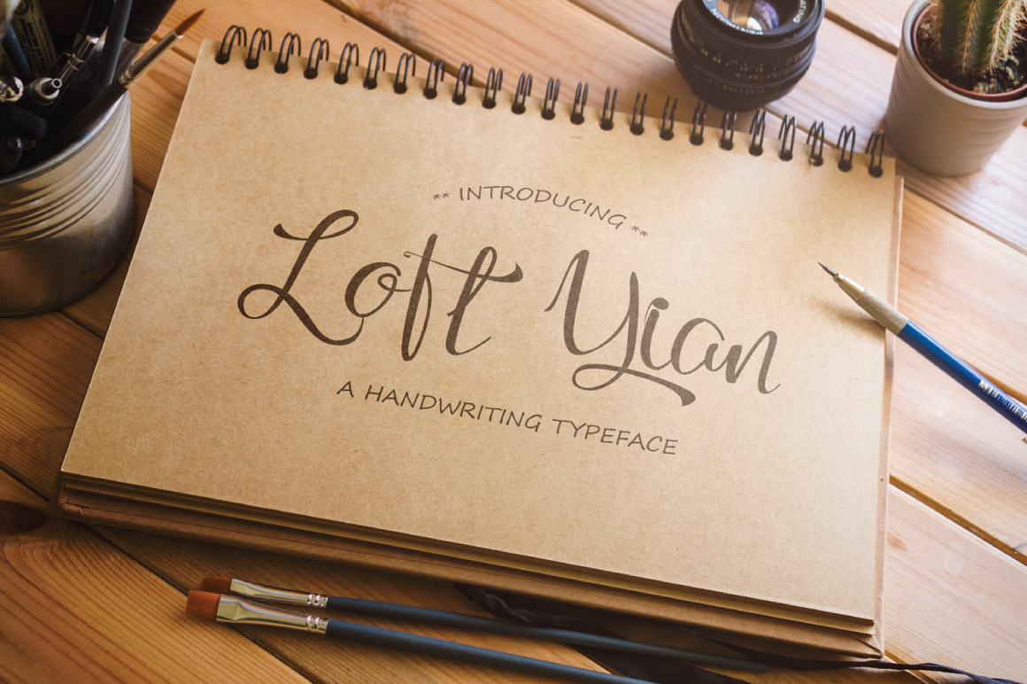 Loft Yian Script Typeface example image 1