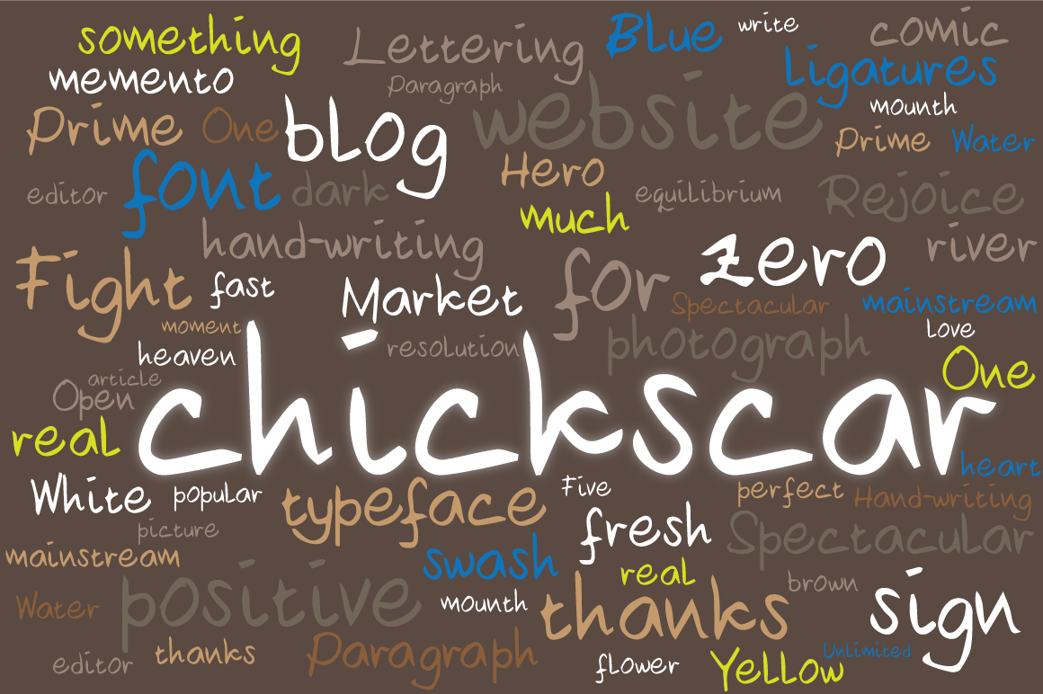 Chickscar Typeface example image 1