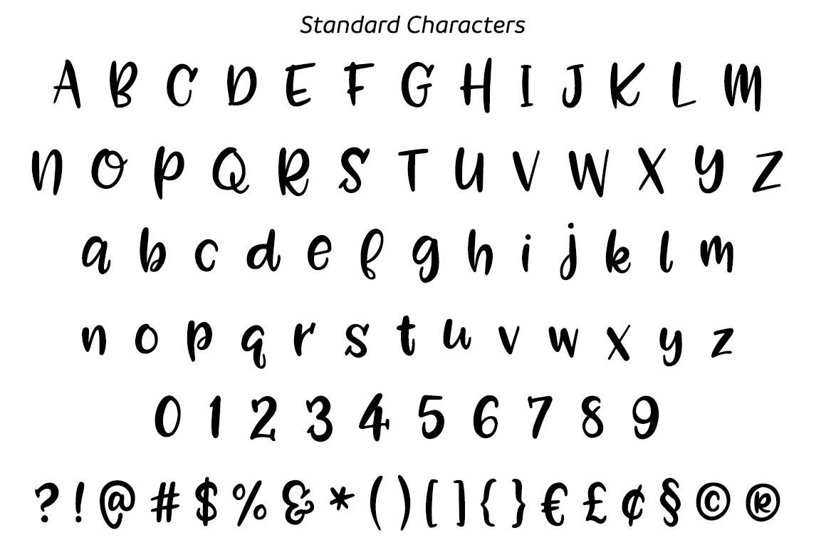 Zooky Squash - standard alphabet
