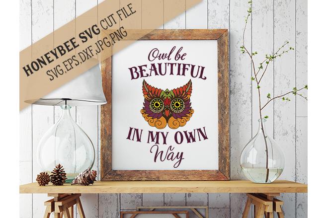Beautiful Owl svg example image 1