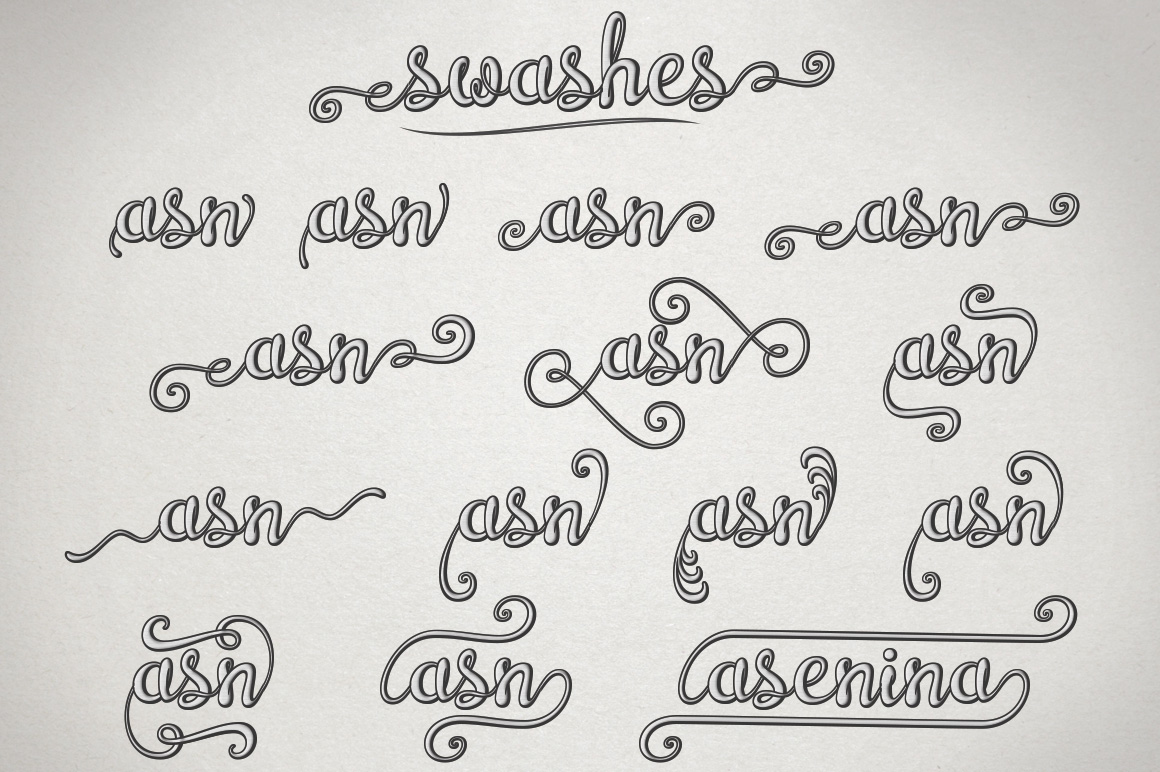 Brazilian Script LAYERED FONT example image 12