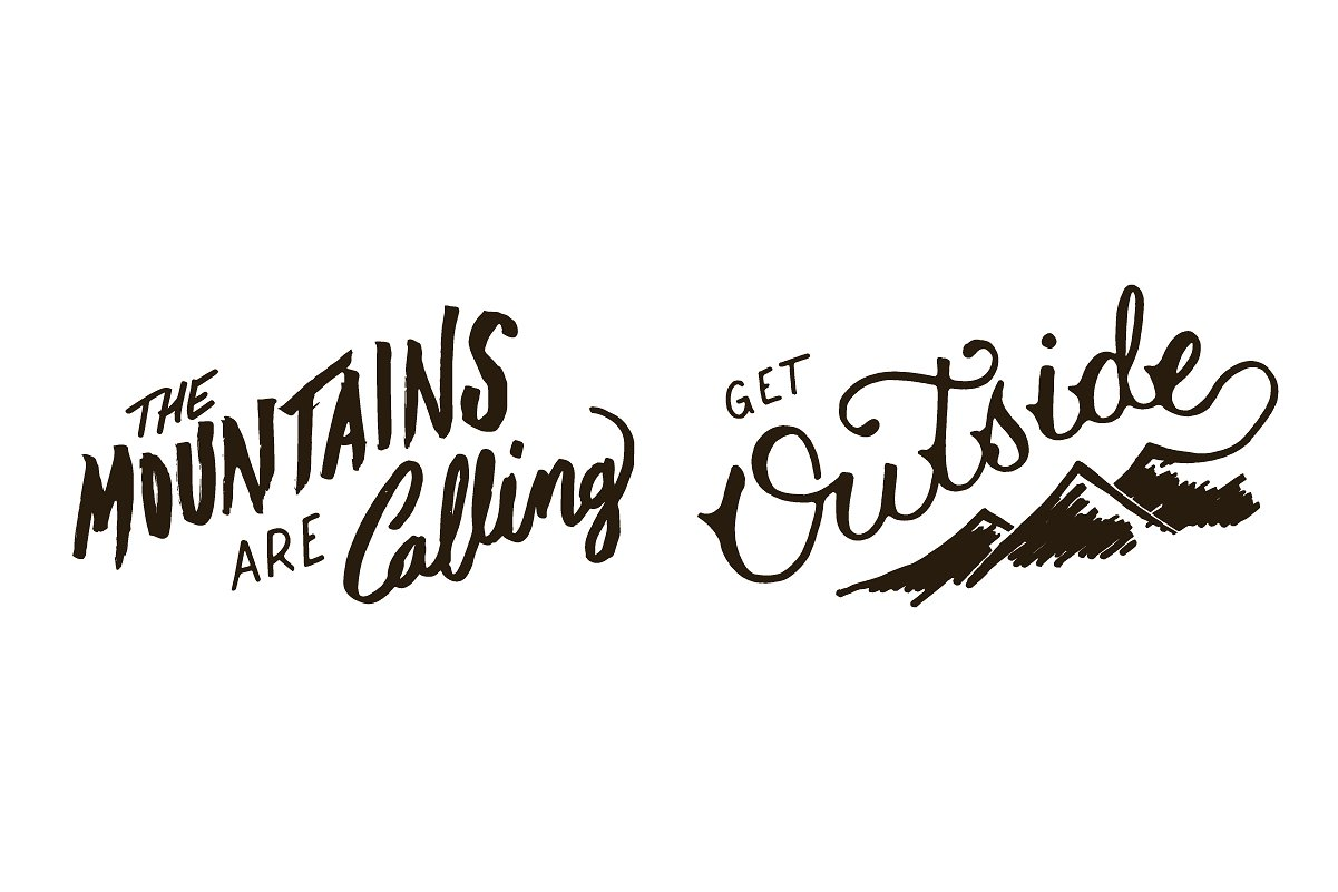 Adventure Lettering Illustrations example image 10
