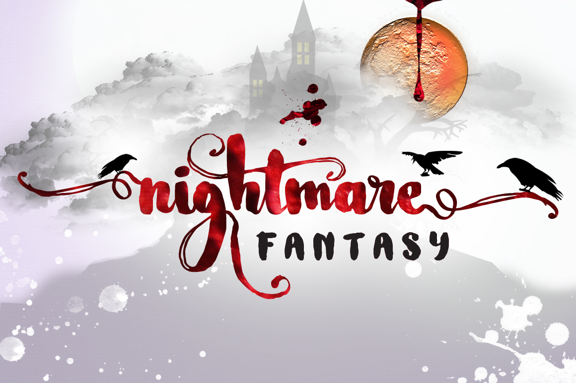 Nightamore Brush Calligraphy (Bonus Font) example image 9
