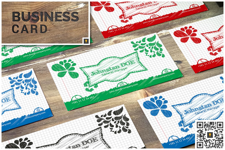 Sketch Modern Business Card