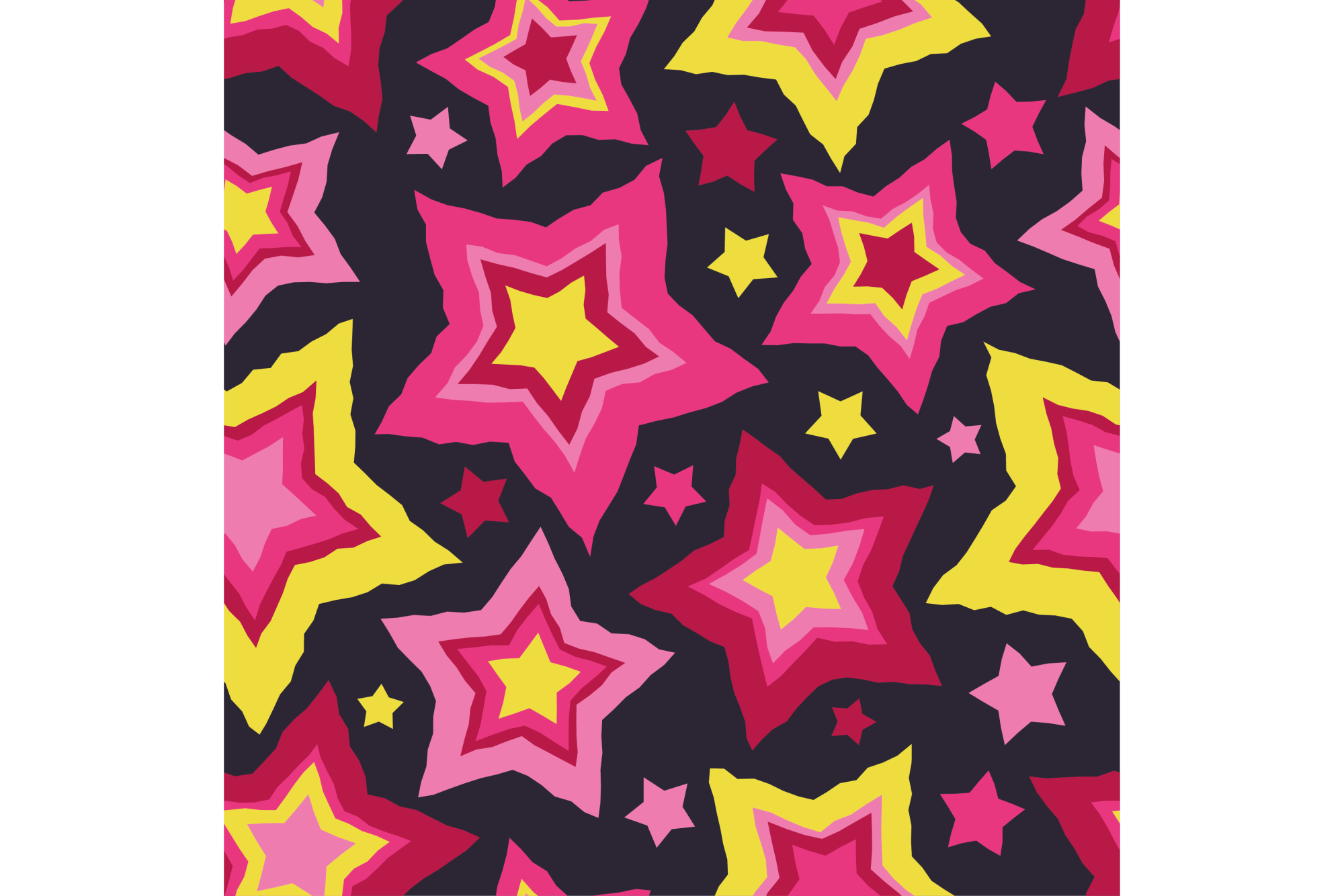 Set of 12 seamless vector backgrounds with decorative stars.  example image 8