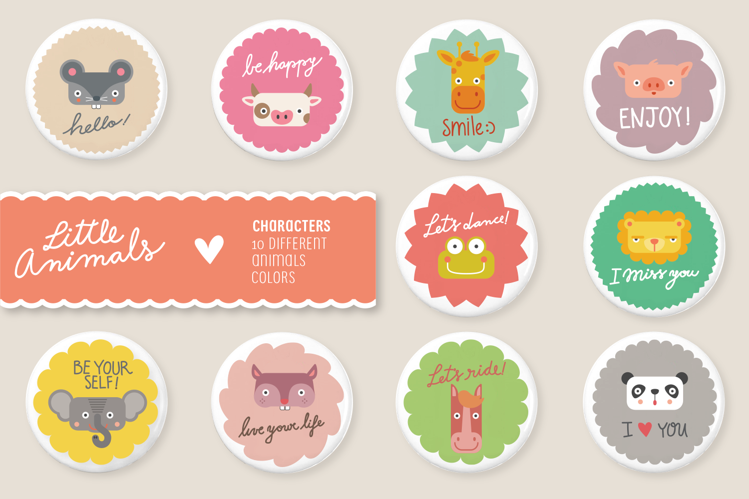 Little Animals Patterns + Characters example image 3