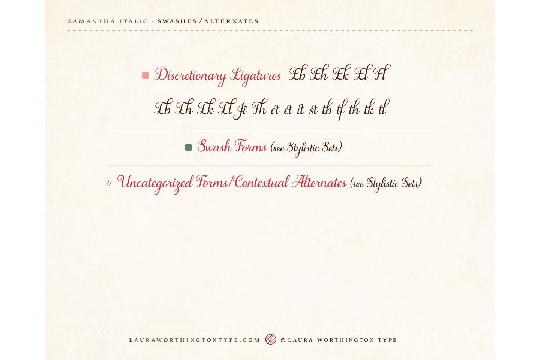 Samantha Script Italic Bold example image 9