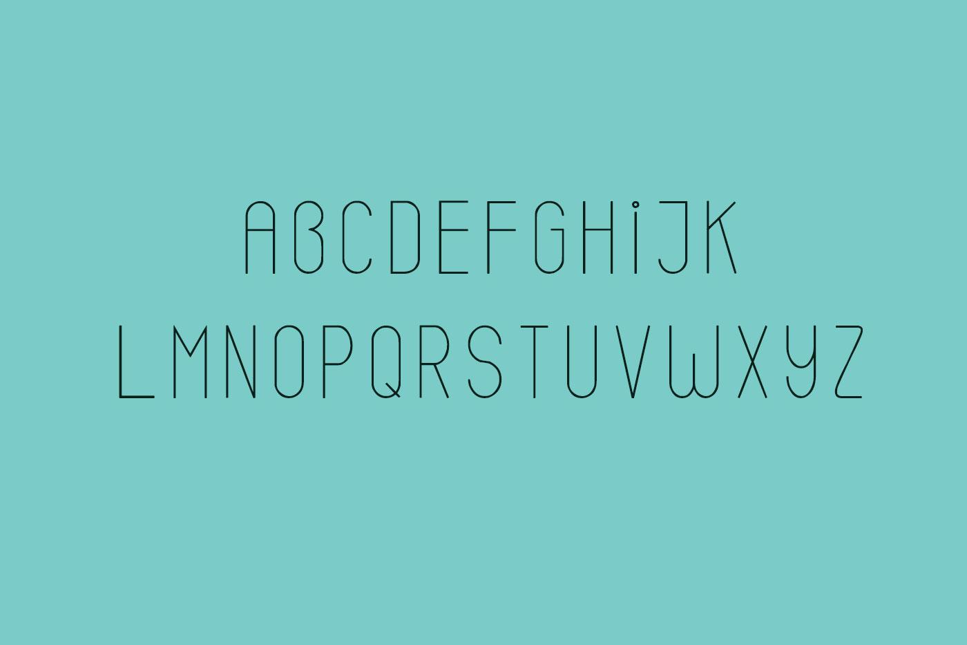 Emery sans serif typeface example image 3