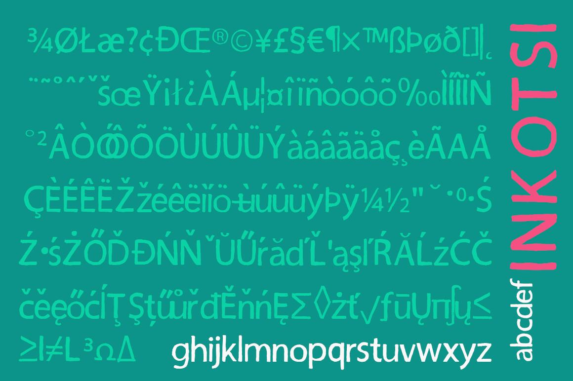 Inkotsi - Rough Sans Serif example image 7