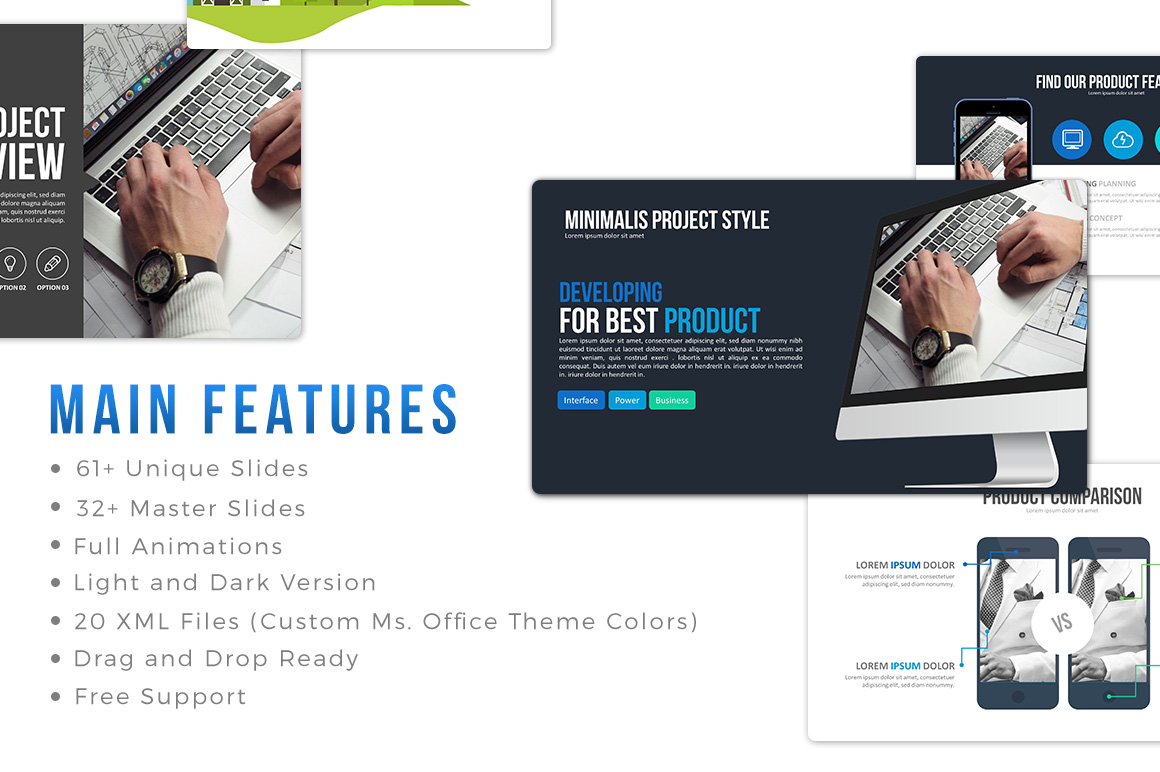 Minimalis Powerpoint Template example image 9