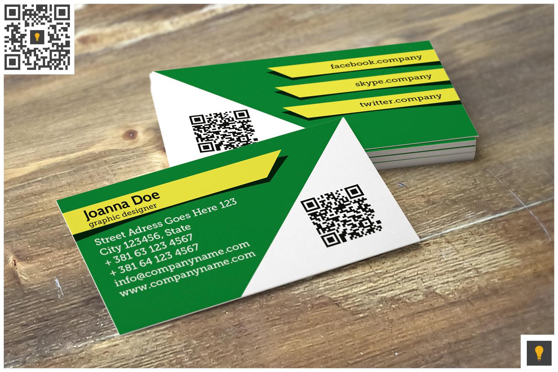Stripe Modern Business Card Green