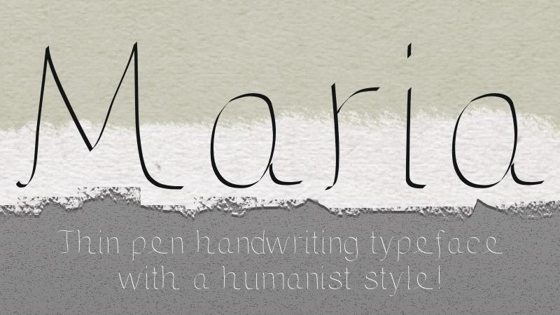 Maria font example