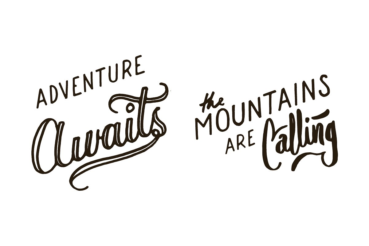 Adventure Lettering Illustrations example image 9