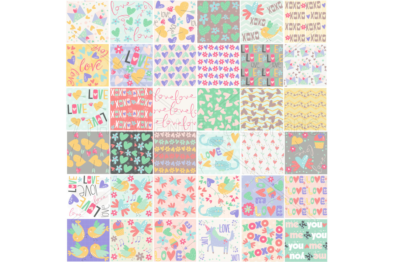 Sweet Valentine Seamless Patterns example image 2