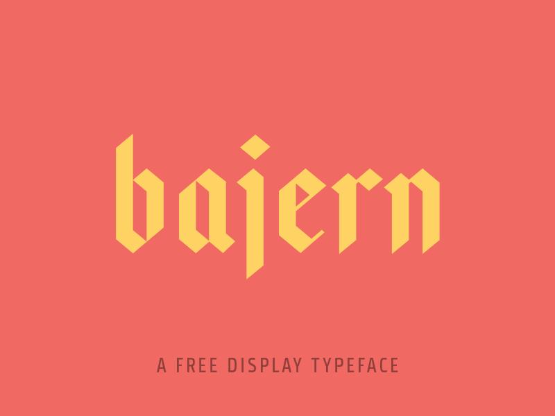 Bajern Typeface example 1