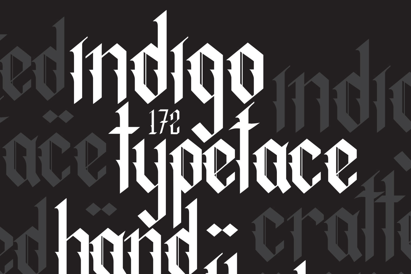 Indigo handcrafted typeface example image 2