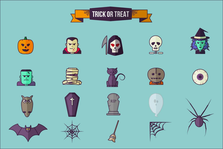 Halloween Flat Icon Set example image 4