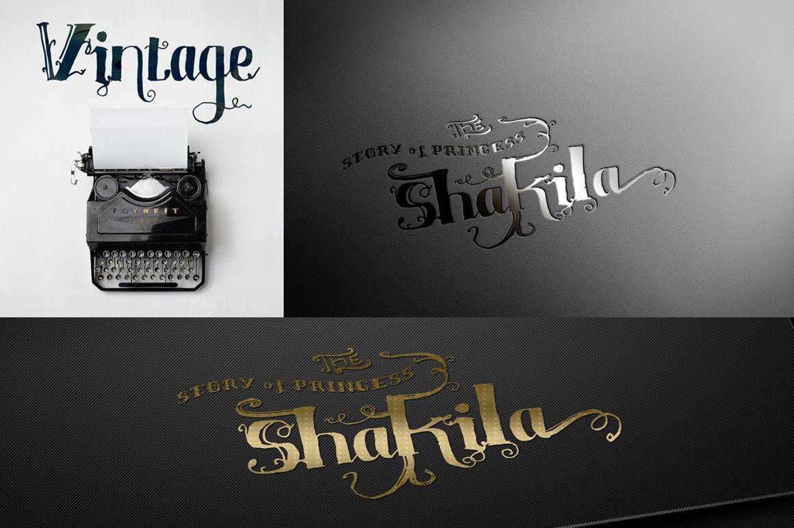 Shakila Typeface Hand Drawn Ornament example image 4