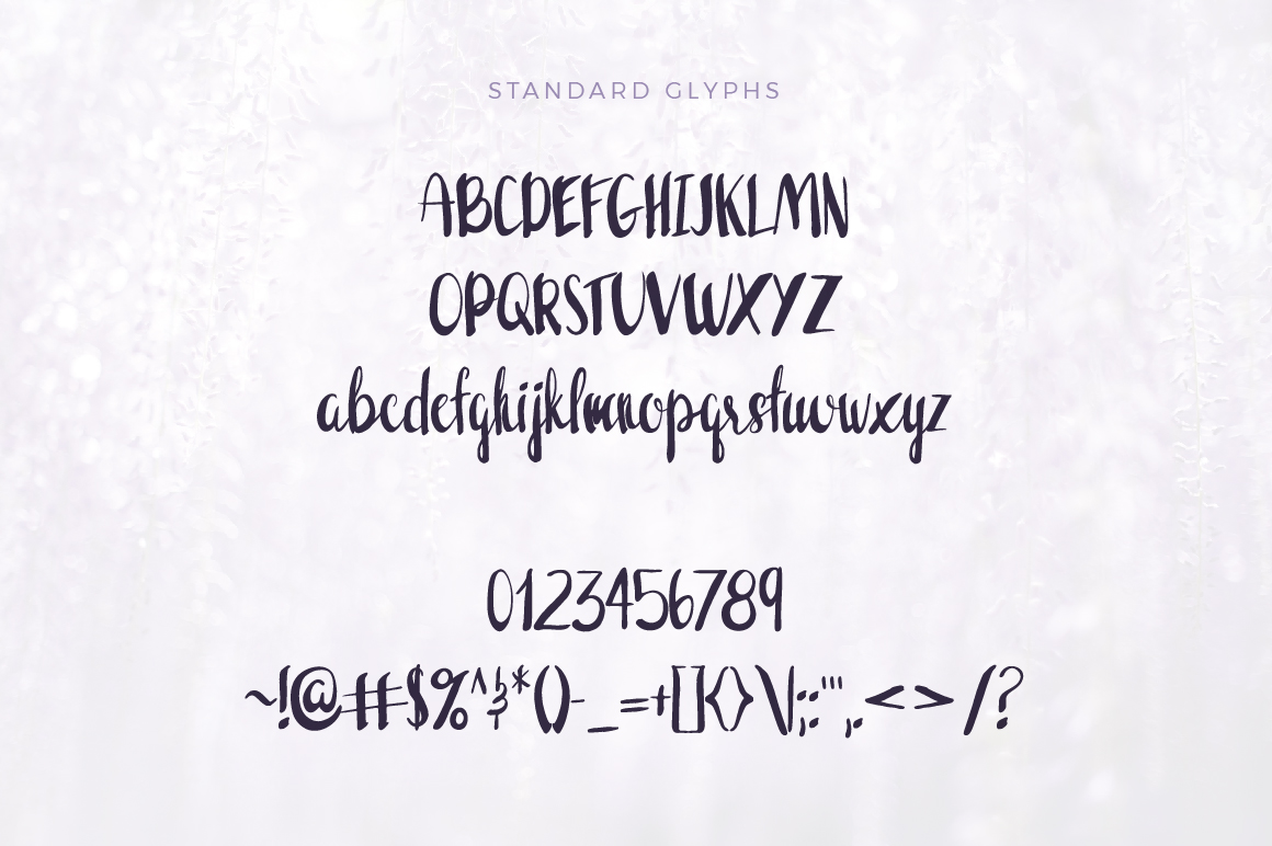 Wisteria Handwritten Font example image 2