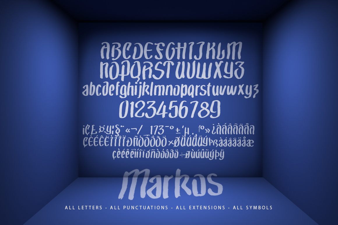 Markos Brush Typeface example image 3