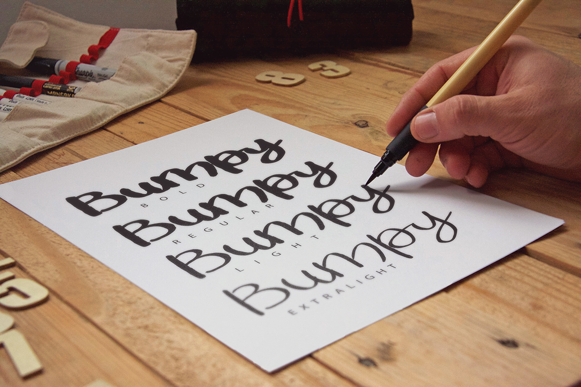 Bumpy Typeface example image 2