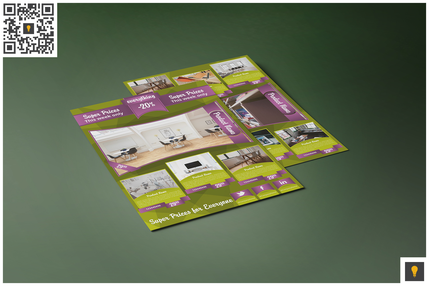 Corporate Product Promotion Flyer Green