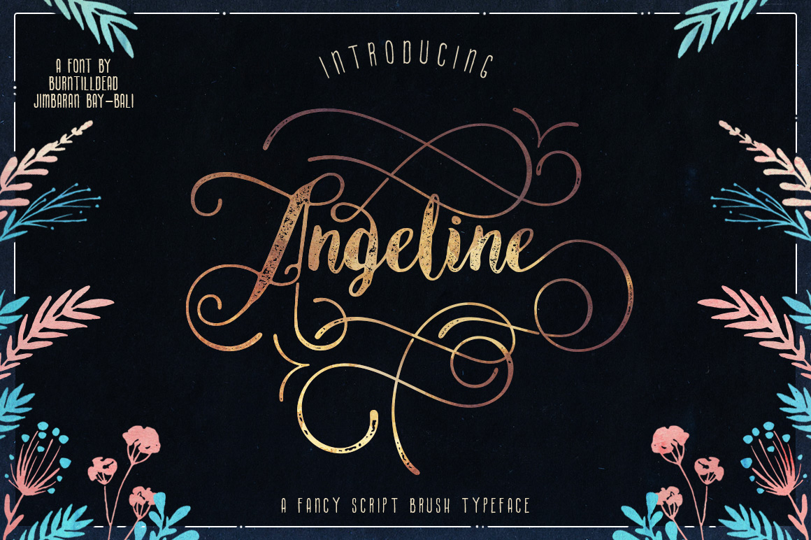 Angeline Font + SWASHES example image 1