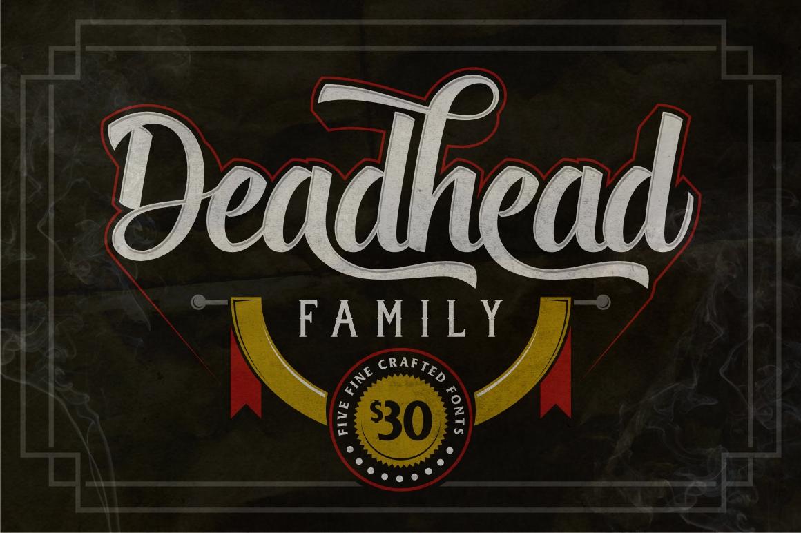 Deadhead Typeface Family example image 1