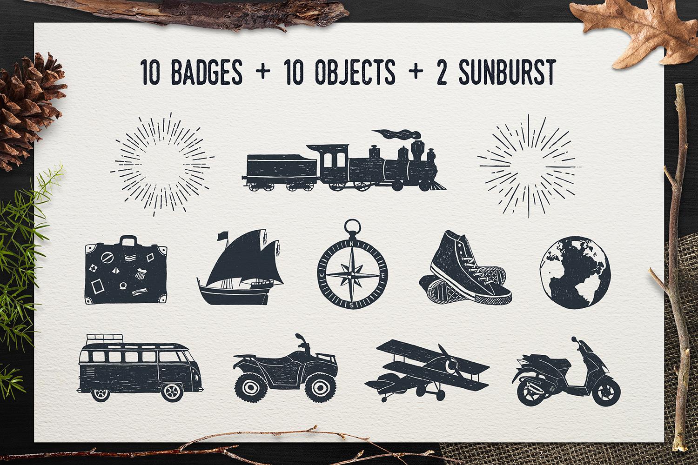 Adventure Vintage Badges (part 1) example image 6