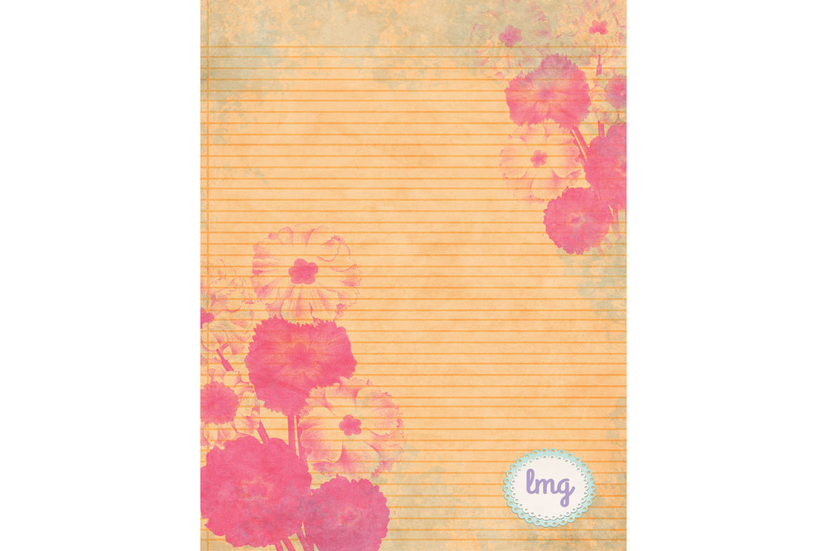 Spring Linen Journal Papers example image 3