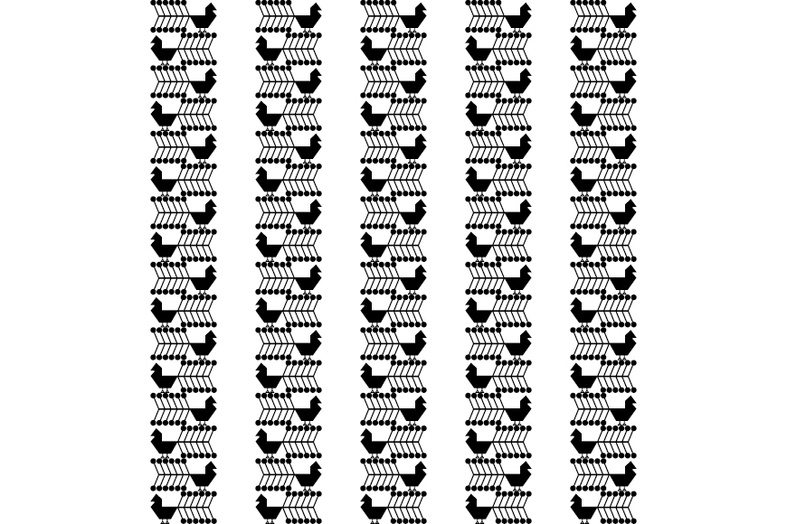 Set of 12 seamless vector backgrounds with decorative birds.  example image 8