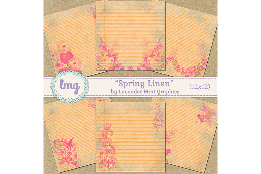 Spring Linen Decorative Pages