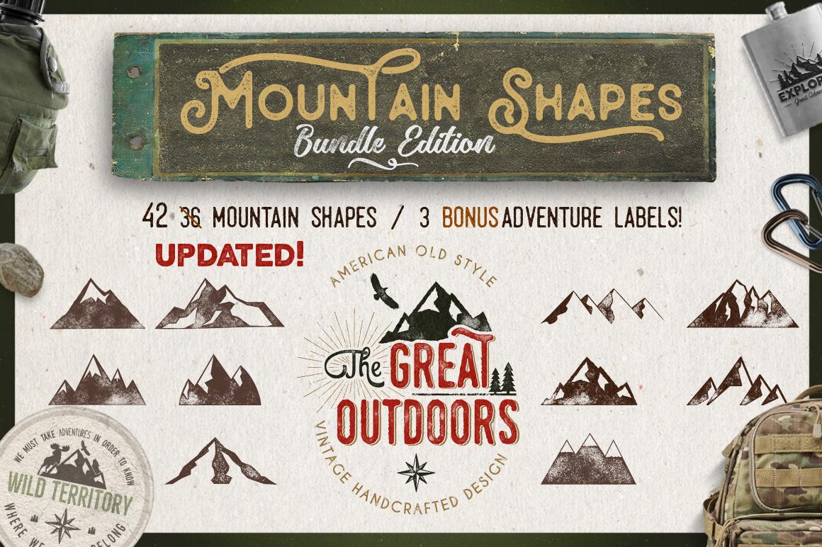Mountain Shapes Bundle & Labels example image 7