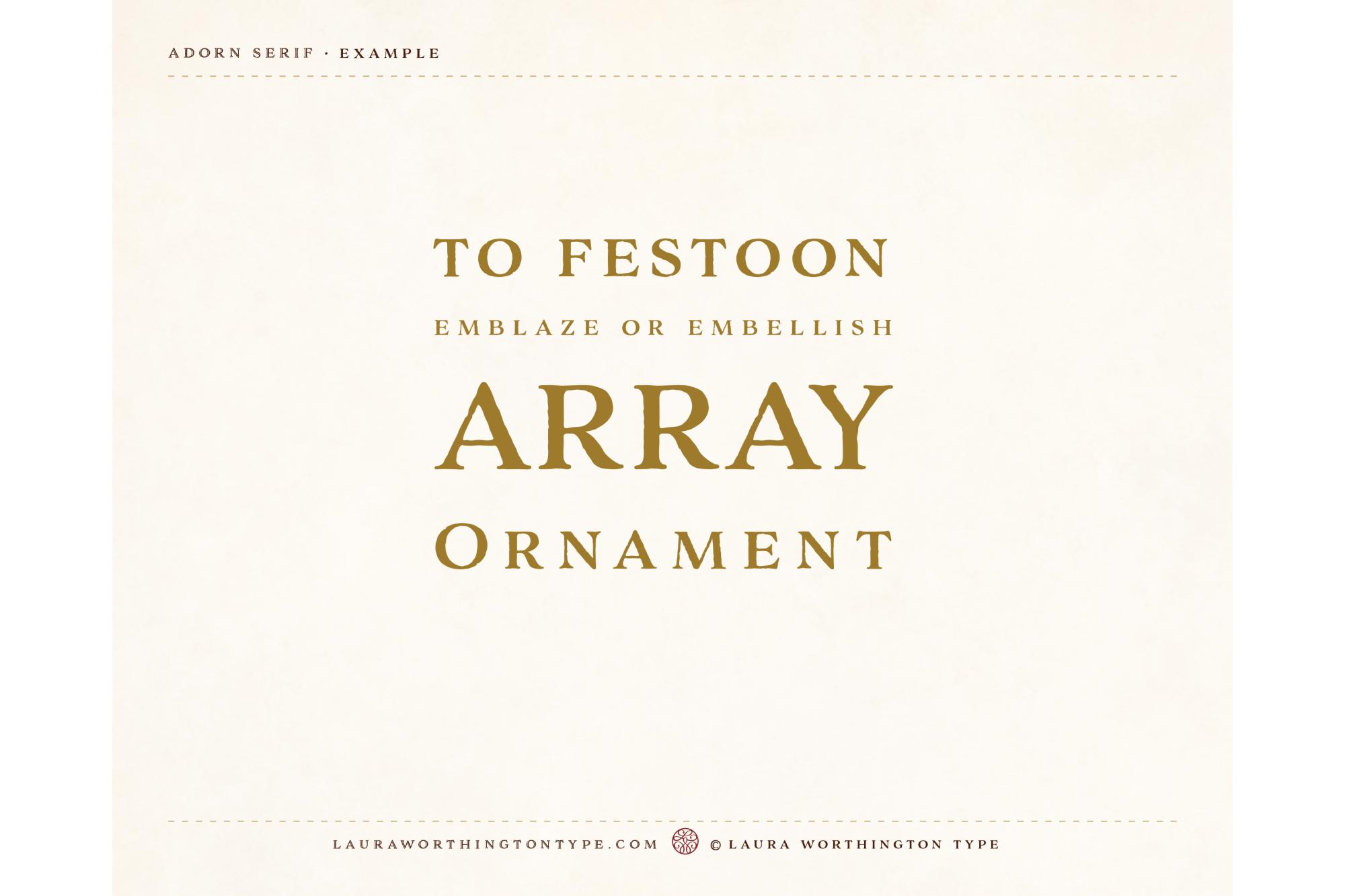 Adorn Serif example image 5