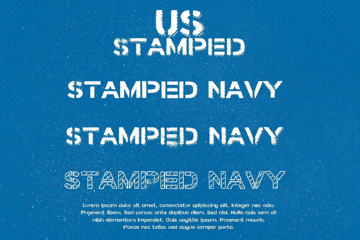 Stamped Navy Font example image 1
