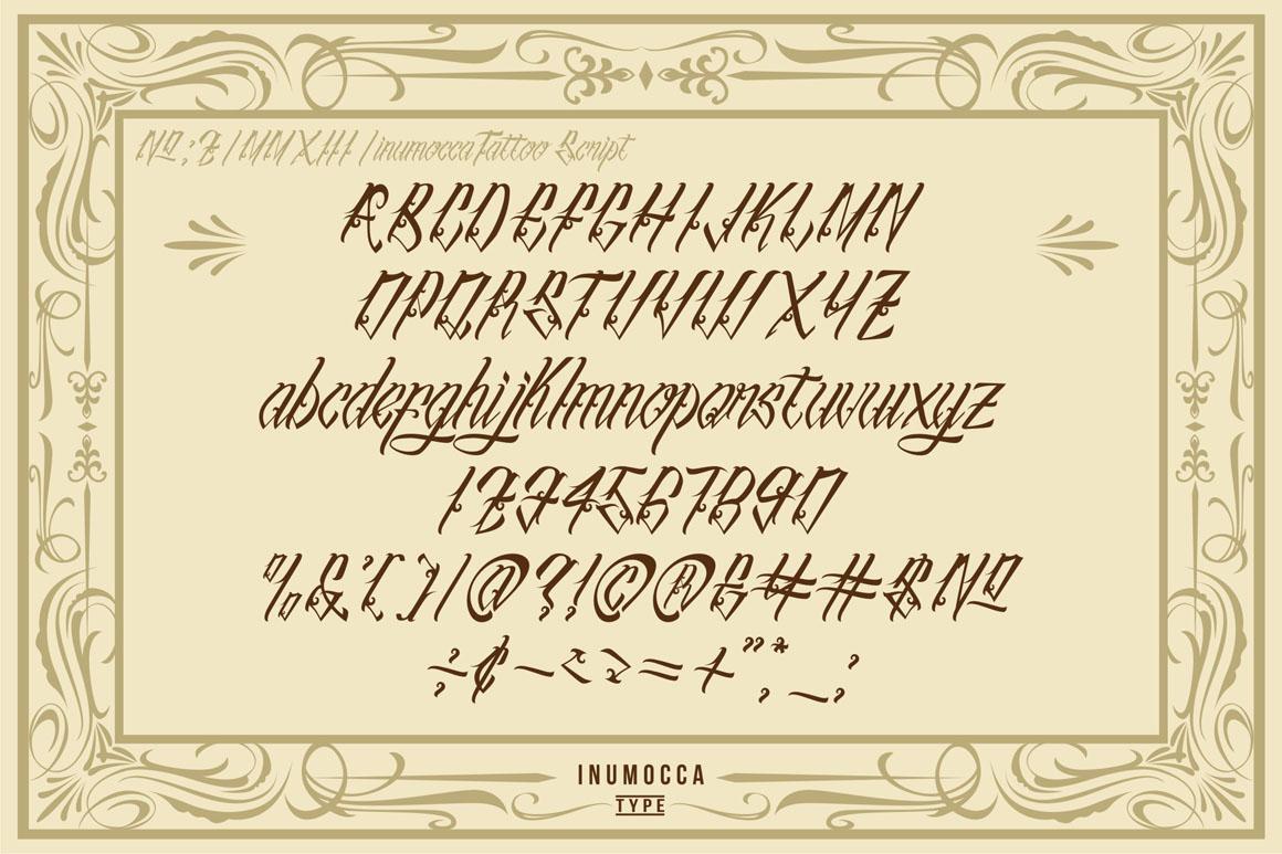 inuTattoo Script + Poster Vector example image 2