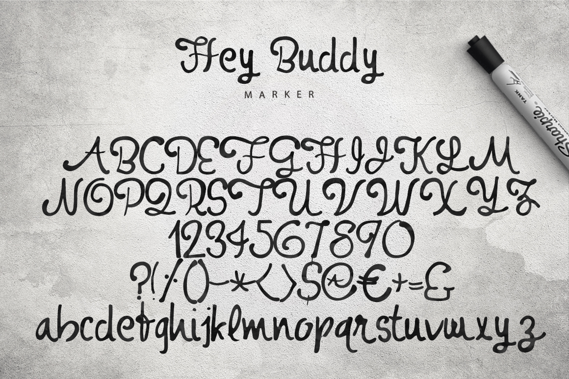 Hey Buddy! 3 Fonts. example image 3