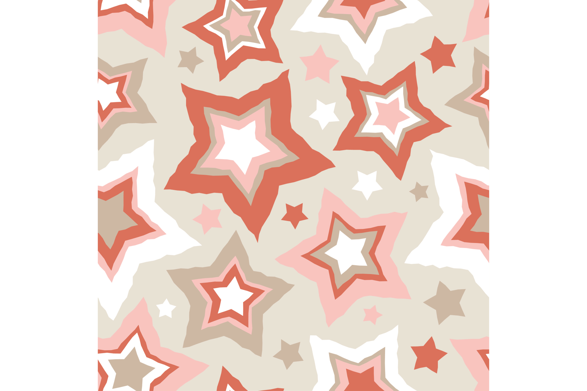 Set of 12 seamless vector backgrounds with decorative stars.  example image 5