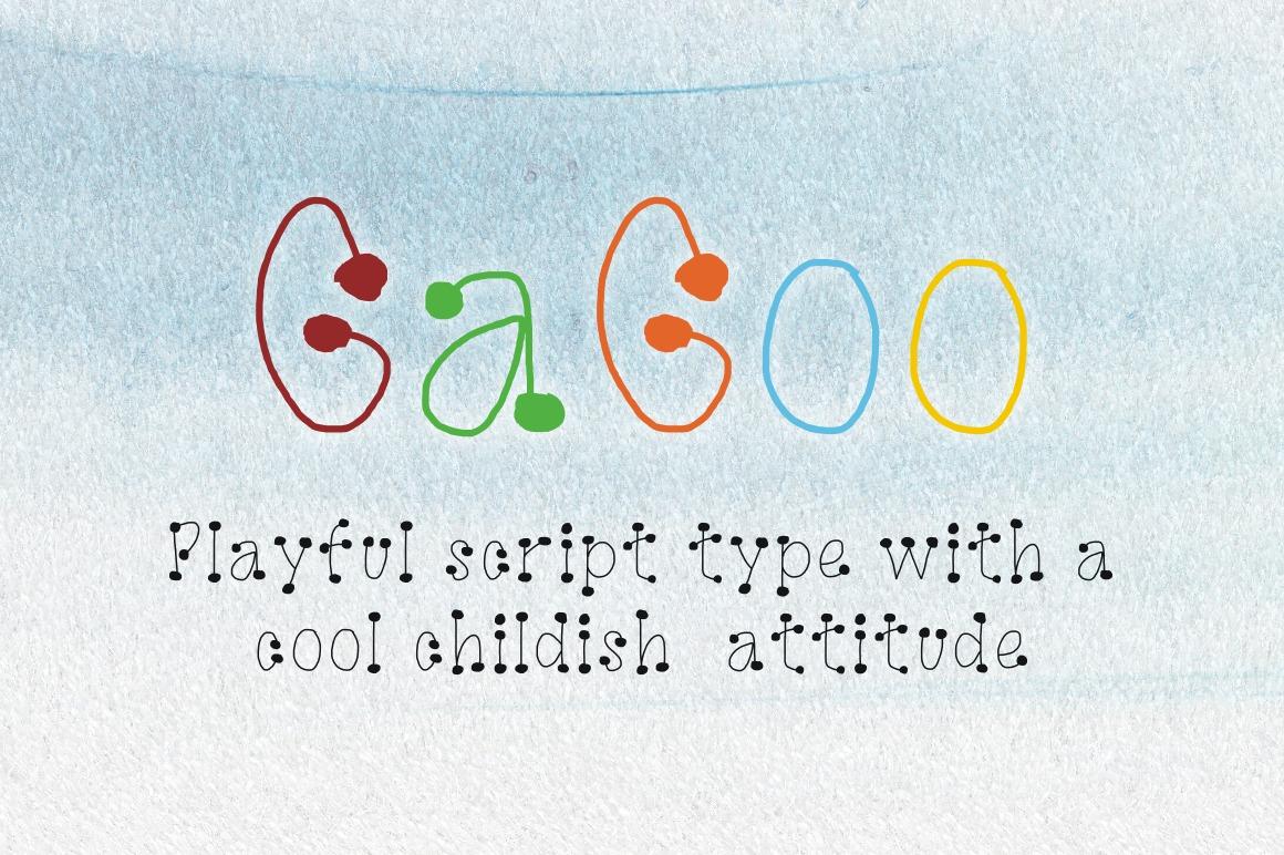 GaGoo font example